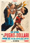 "Movie Posters:Western, A Fistful of Dollars (Unidis, 1965). Italian 4 - Foglio (55"" X78"").. ..."
