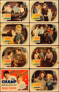 """The Champ (MGM, 1931). Autographed Lobby Card Set of 8 (11"""" X 14"""")"""