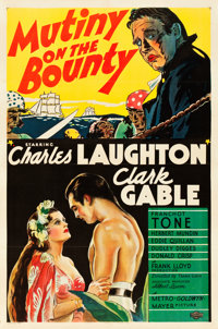 "Mutiny on the Bounty (MGM, 1935). One Sheet (27"" X 41"") Style C"
