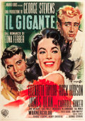 "Movie Posters:Drama, Giant (Warner Brothers, R-1963). Italian 4 - Foglio (55"" X 77"")....."