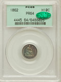 Proof Seated Half Dimes: , 1862 H10C PR64 PCGS. CAC. PCGS Population (41/41). NGC Census:(52/43). Mintage: 550. Numismedia Wsl. Price for problem fre...