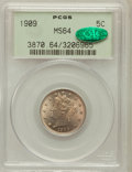 Liberty Nickels: , 1909 5C MS64 PCGS. CAC. PCGS Population (190/87). NGC Census:(137/67). Mintage: 11,590,526. Numismedia Wsl. Price for prob...