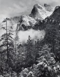 Photographs:20th Century, ROBERT OSBORN (American, b. 1938). Winter Storm, CathedralRocks, Yosemite, 1985. Gelatin silver. 19-1/4 x 15-1/4inches...
