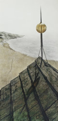 Prints:American, ANDREW NEWELL WYETH (American, 1917-2009). Northern Point,circa 1956. Color collotype. 34-1/2 x 16-1/2 inches (87.6 x 4...