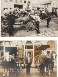 Real Photo Postcards: Two U. S. Express Wagons