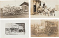Western Expansion:Goldrush, Real Photo Postcards:Four Wells Fargo & Co Express Wagons.... (Total: 4 Items)