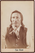 Photography:Cabinet Photos, Albumen Cabinet Card Photo: Two Bear, ...