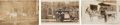 Western Expansion:Goldrush, Real Photo Postcard: Three Adams Express Wagon Scenes... (Total: 3Items)
