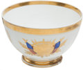 Antiques:Decorative Americana, Paris Porcelain Patriotic Punch Bowl. ...