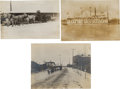 Photography:Cabinet Photos, [Alaska Gold Mining]. Three Original Prints of the SteamshipTanana and Modes of Transport in Fairbanks, Circa 190...(Total: 3 Items)