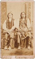 Photography:CDVs, Carte de Visite: Two Cheyenne Braves,...