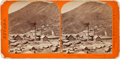 Photography:Stereo Cards, Albumen Stereoview: Virginia City Mill and Works- Gould & Curry....