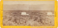 Photography:Stereo Cards, Albumen Stereoview: Argenta Station at Skull Ranch....