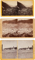 Photography:Stereo Cards, Three Stereoviews: Officers Quarters at Fort Garland, and Two Georgetown Views.... (Total: 3 Items)
