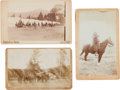 Photography:Cabinet Photos, Three Photographs: Indian War Soldiers Camp.... (Total: 3 Items)