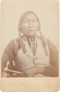 Photography:Cabinet Photos, Cabinet Card Photo: Kiowa Chief Lone Wolf,...