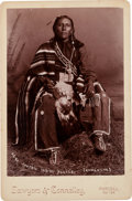 "Photography:Cabinet Photos, Cabinet Card Photo: Comanche Indian Police Captian ""Ar-Ko"". ..."
