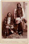 Photography:Cabinet Photos, Cabinet Card Photo: Apache Chiefs Purcell, Indian Territory....