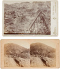 Photography:Cabinet Photos, Two Photographs: Deadwood Placer Mining Claim and Homestake GoldMine, Lead, South Dakota.... (Total: 2 Items)