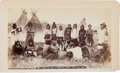 Photography:Cabinet Photos, Albumen Boudoir Photo: Indian Pow-Wow at Moosomin (Assiniboine), N.W.T. June 1889,...