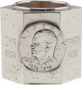 """Political:Presidential Relics, Gerald Ford: Silver """"Buck Starts Here"""" Presentation Cup...."""