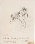 Art:Illustration Art - Mainstream, William Herbert Dunton Signed Sketch.... (Total: 2 Items)