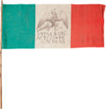 Political:Textile Display (1896-present), Flags: Mexican Revolution Flag....