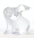 Art Glass:Lalique, A LALIQUE CLEAR TO FROSTED GLASS FIGURE: POLAR BEAR . Late20th century. Marks: Lalique R France. 6 inches high ...