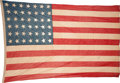 Political:Textile Display (pre-1896), Flags: 42-Star Washington State Flag....