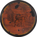 Political:3D & Other Display (pre-1896), William Henry Harrison: Outstanding Campaign Snuff Box....
