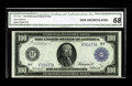 Large Size:Federal Reserve Notes, Fr. 1104 $100 1914 Federal Reserve Note CGA Gem Uncirculated 68. This note previously appeared in our 2006 FUN Signature Auc...