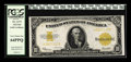 Large Size:Gold Certificates, Fr. 1173 $10 1922 Gold Certificate PCGS Very Choice New 64PPQ. Alittle more margin at left and this bright, well embossed H...