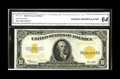 Large Size:Gold Certificates, Fr. 1173 $10 1922 Gold Certificate CGA Choice Uncirculated 64. Thesurfaces do look very natural on this brightly colored Go...
