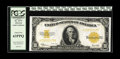 Large Size:Gold Certificates, Fr. 1173 $10 1922 Gold Certificate PCGS Choice New 63PPQ. Were itnot for a slim bottom margin, this deeply embossed issue w...
