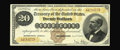 Large Size:Gold Certificates, Fr. 1174 $20 1882 Gold Certificate Extremely Fine. This adequatelymargined note faces up like the best AU, of which none ar...