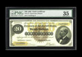 Large Size:Gold Certificates, Fr. 1177 $20 1882 Gold Certificate PMG Very Fine 35. Large SealSeries 1882 $20 Golds are a scarce commodity. In total there...