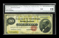 Large Size:Gold Certificates, Fr. 1178 $20 1882 Gold Certificate CGA Fine 15. This $20 Gold looks problem-free for the grade through the third-party holde...