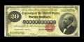 Large Size:Gold Certificates, Fr. 1178 $20 1882 Gold Certificate Fine. A pair of pinholes seem to be the only compromises of the paper on this evenly circ...