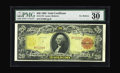Large Size:Gold Certificates, Fr. 1179 $20 1905 Gold Certificate Very Fine 30 EPQ. There islittle wonder why this design is listed as No. 9 in the coffee...