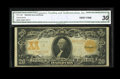 Large Size:Gold Certificates, Fr. 1185 $20 1906 Gold Certificate CGA Very Fine 30. This popular type still looks quite crisp....