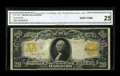 Large Size:Gold Certificates, Fr. 1185 $20 1906 Gold Certificate CGA Very Fine 25. The reddish-gold overprint remains bold on both the front and back. Onl...