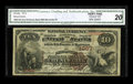 Large Size:Gold Certificates, Fr. 1187 $20 1922 Gold Certificate CGA Very Fine 35. A bright example, both front and back....