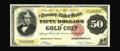 Large Size:Gold Certificates, Fr. 1193 $50 1882 Choice About New. Though a total of six uncirculated examples of this issue are reported extant, only two ...