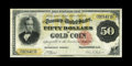 Large Size:Gold Certificates, Fr. 1193 $50 1882 Gold Certificate Fine-Very Fine. The paper hereis relatively unsoiled for the grade and all the printed ...