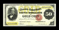 Large Size:Gold Certificates, Fr. 1197 $50 1882 Gold Certificate Extremely Fine. The yellow-gold,blue, and red printings remain fully vibrant. Fully marg...