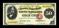 Large Size:Gold Certificates, Fr. 1197 $50 1882 Gold Certificate Very Fine. The winner of this lot will be privileged to own a most appealing note for the...