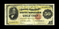 Large Size:Gold Certificates, Fr. 1197 $50 1882 Gold Certificate Very Good-Fine. Much color remains on this example that has gotten wet long ago. Some sta...
