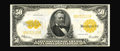Large Size:Gold Certificates, Fr. 1200 $50 1922 Gold Certificate Gem New. This glorious specimen is listed in the Gengerke census as a Limpert illustratio...