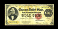 Large Size:Gold Certificates, Fr. 1215 $100 1922 Gold Certificate Fine. Pinholes are readily seenon this vibrant high denomination note that everyone wan...