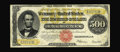 Large Size:Gold Certificates, Fr. 1217 $500 1922 Gold Certificate Choice Fine. Only about 50serial numbers are known of this one-number type with this no...